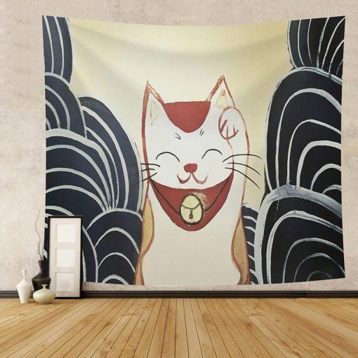 Japanische Katze Wandbehang